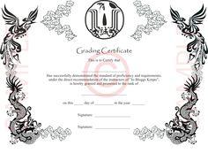 Martial Arts Certificates Advanced Martial Arts