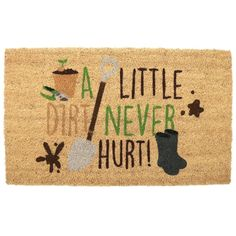 Click that link to learn more about Coir Door Mat - Gardening Design by weeabootique!
