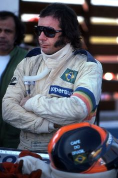 Emerson Fittipaldi, sporting his 'trademark' sideburns.