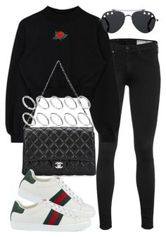 """Untitled #2451"" by mariie00h ❤ liked on Polyvore featuring rag & bone, Chanel, Gucci, Givenchy and ASOS"