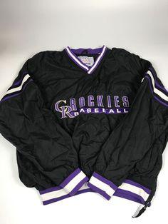 Rare Vintage STARTER Colorado Rockies MLB Baseball 90 s Jacket Youth XL  Pullover  18ef93f52