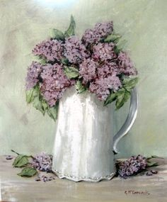 Lilacs in a White Jug - Gail McCormack