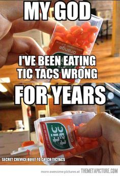 whaaat? how to eat a tic tac