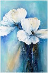"""""""happy day"""" acrylic art on canvas by Antje Hettner - my favourite flowers - Painting Love Abstract Flowers, Watercolor Flowers, Watercolor Paintings, Acrylic Paintings, Flower Canvas, Flower Art, Art Prints For Sale, Acrylic Art, Painting Inspiration"""