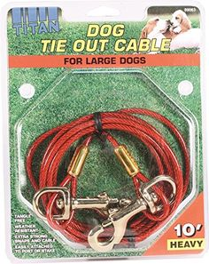 Coastal Pet - Titan Heavy Cable Dog Tie Out 10', For Large Dogs Up To 80 Lbs *** To view further, visit now : Dog Training and Behavior Aids