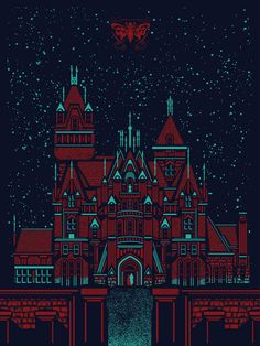 """Crimson Peak - Jeffrey Evverett - ''Fear'' ---- Gallery 1988 presents: """"Guillermo Del Toro: In Service Of Monsters"""" Guillermo Del Torro, Fanart, Romance Film, Crimson Peak, Fictional World, House Drawing, Red Aesthetic, The Exorcist, Victorian Gothic"""