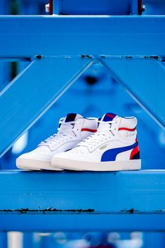Ralph Sampson was one of basketballs biggest names in the early winning three Puma Sneakers Shoes, Pumas Shoes, Ralph Sampson, Sport Fashion, Nike Huarache, Urban Fashion, Red And Blue, Sport Style, Nba