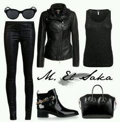 Black on Black...biker chick outfit...cool!;-)