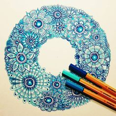 Love this zendoodle I found on Instagram... #zendoodle #stabilo #zentangle #art…