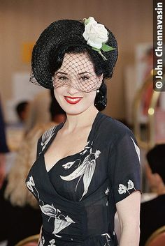 Dita in a gorgeous vintage dress