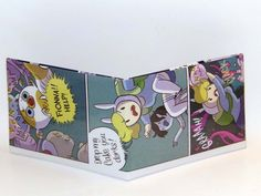 Comic Book Wallet// Adventure Time// Fiona, Cake, and Marshal Lee, $4.00