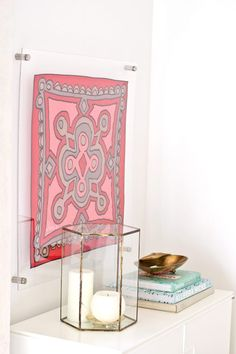 Learn how to make a custom DIY framed lucite scarf with standoffs. With a little time, and a few basic materials, you can have your own luxe look.