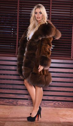 MINK FUR COAT WITH HOOD. SUPERIOR SAGA MINK. & FOX FUR IN SABLE COLOR. SUPERIOR SAGA MINK ! IS ONE OF THIS FUR THAT WE DO NOT HAVE TO RECOMMEND. MADE OF HIGHEST QUALITY SKINS. LOOKS LIKE SABLE. NEW WITH INSIDE LABEL. | eBay!