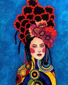 "Hülya Özdemir ""it just takes a spark to light across"" Art And Illustration, Illustrations, Art Pop, Women Ilustration, Art Painting Gallery, Art Paintings, Bo Bartlett, Klimt, Portrait Art"