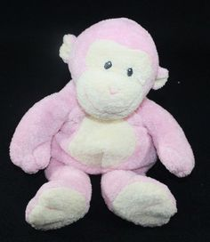 Ty Pluffies Pink Dangles Monkey Plush 2006 Sewn Eyes Soft Toy Baby Stuffed  #Ty