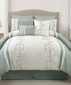 Take a look at this Sea Foam Felice Comforter Set by Victoria Classics on #zulily today!
