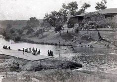 Barton Springs, Austin Texas early 1920's