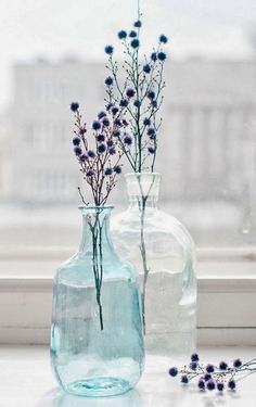 Simple arrangement of flowers in a vase