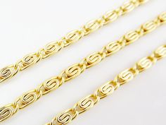 Knurled Coil Chain  22k Matte Gold Plated  1 Meter by LylaSupplies, $8.00