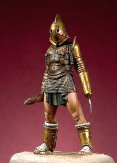 Roman Gladiator Scissor Epic Characters, Fantasy Characters, Roman Gladiators, Character Inspiration, Character Design, Marshal Arts, Roman Warriors, Diorama, Military Figures