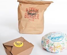 If I ever make my own burgers, I'm going to package them up like a fast food joint.