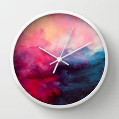 """""""Reassurance"""" Wall Clock by Caleb Troy on Society6."""