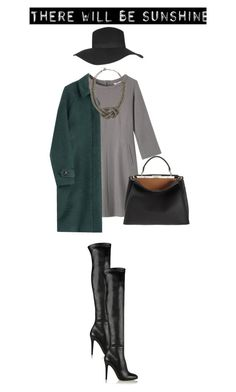 """""""Green And Grey"""" by konstantinaaabour ❤ liked on Polyvore featuring Toast, Jimmy Choo, Burberry, Fendi, Topshop and BCBGMAXAZRIA"""