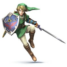 Link's design for Super Smash Bros Brawl for thE Wii U! So wish I had a Wii U just so I could try this game when it comes out. Favorite Character, Character Design, Legend, Legend Of Zelda Characters, Link Art, Game Character, Super Smash Bros Brawl, Character, Hero
