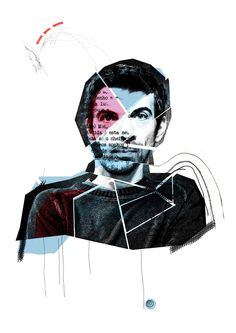Retrato Manuel Cruz by Soraia Oliveira, via Behance