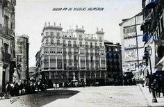 Nueva Plaza de Nicolás Salmerón  (desde 1941, Plaza de Cascorro, Rastro). MADRID, 1913. Autor: José Corral.