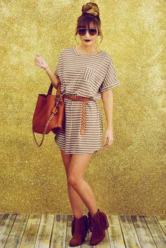 Back At It Again Dress: Mocha/Sand #shophopes