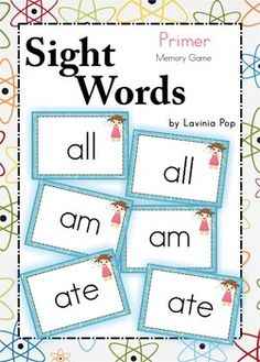 Free Sight Word Memory Game {Primer Words}