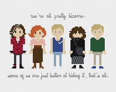 The Breakfast Club Cross Stitch Pattern PDF Instant Download