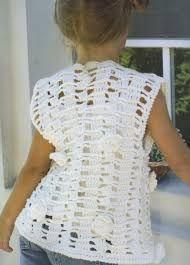Resultado de imagen para patrones de chalecos en crochet para niña