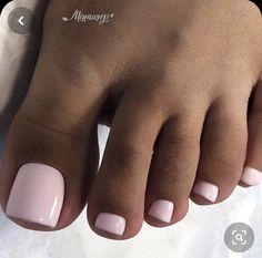 Gel Toe Nails, Acrylic Toe Nails, Pink Toe Nails, Pretty Toe Nails, Summer Toe Nails, Cute Toe Nails, Feet Nails, Pretty Toes, Toenails