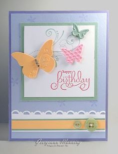 Really like these pastels. Pretty card.
