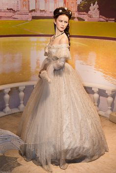 "Wax figure of Empress Elisabeth ""Sissi"" of Austria. One of the world's most beautiful women in history; Madame Tussauds museum; artist; art; paintings; painting; beauty; woman; ladies; lady; style; fashion"