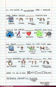 Cute note cute