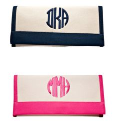 I realllllly want a monogrammed wallet! Or at least a wallet that my wonderful boss can monogram for me!