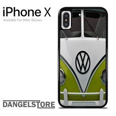 green bus vw For iPhone X