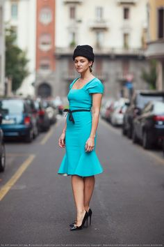 via Stockholm Streetstyle - love the dress, not really a fan of the hat...