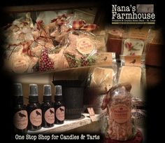 A one stop place for Candles and Tarts is Nana's Farmhouse.