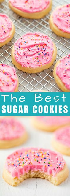 This #SugarCookie #recipe is absolute perfection with a perfectly soft sugar cookie every single time. It's the perfect easy sugar cookie recipe for every occasion! #cookie #dessert #thestayathomechef