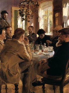 Peder Severin Krøyer (1851 – 1909) Artists at Breakfast 1883