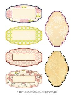 Aged labels PNG and Printable perfect for by TracyAnnDigitalArt