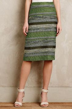 Striped Jade Skirt, linen/rayon/spandex, Anthropologie $148