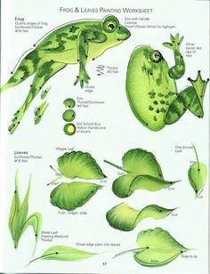 DONNA'S BASIC STROKES - Frog & Leaves Worksheet
