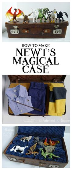 Newt Scamander's Magical Case to hold your own Fantastic Beasts is so fun and easy to make.  Make it for yourself or a gift.