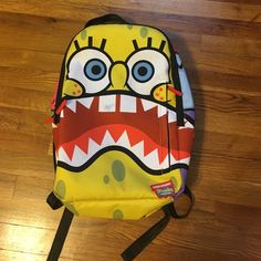 SOLD OUT Sprayground SpongeBob Shark Mouth Spongebob Backpack A Few Marks
