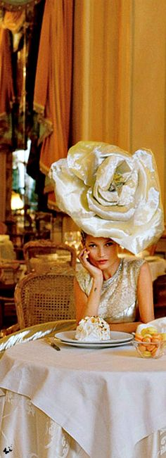 Kate Moss photographed by Tim Walker & styled by Grace Coddington at the Ritz Paris for Vogue US, April 2012